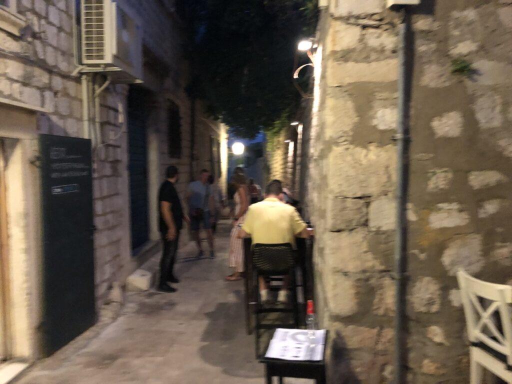 Restaurant in Dubrovnik Old town