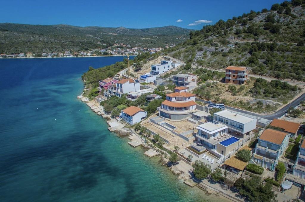 Seafront villa for sale Rogoznica, sea view