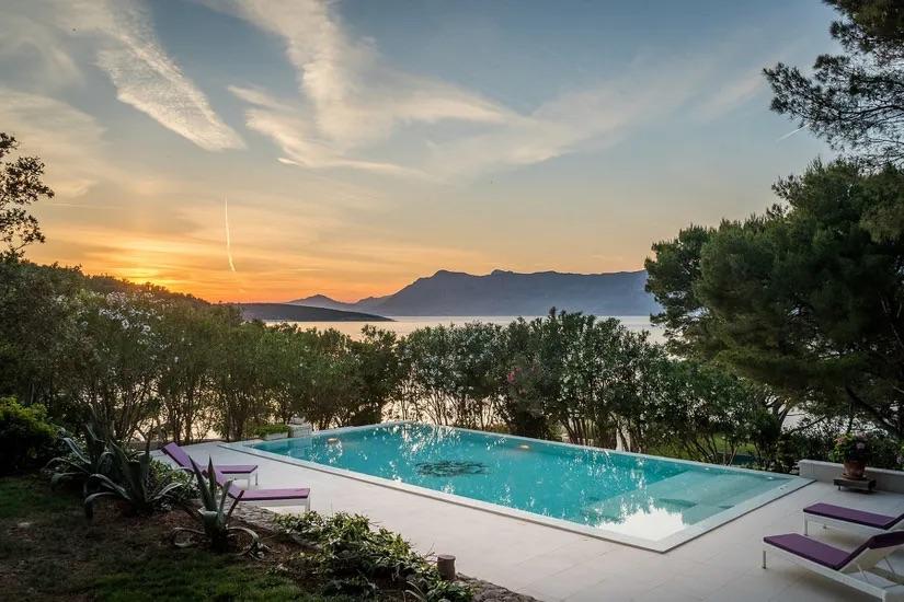 Sea View Villa On Brac Island For Sale, Croatia, Pool, Seafront