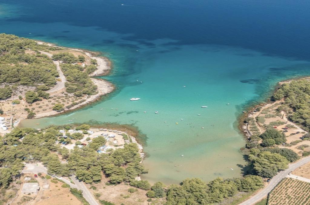 Seafront land for sale, Hvar island, beach