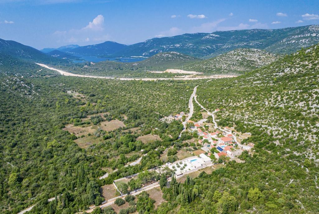 New stone villa Croatia Dubrovnik for sale, pool, patio, garden