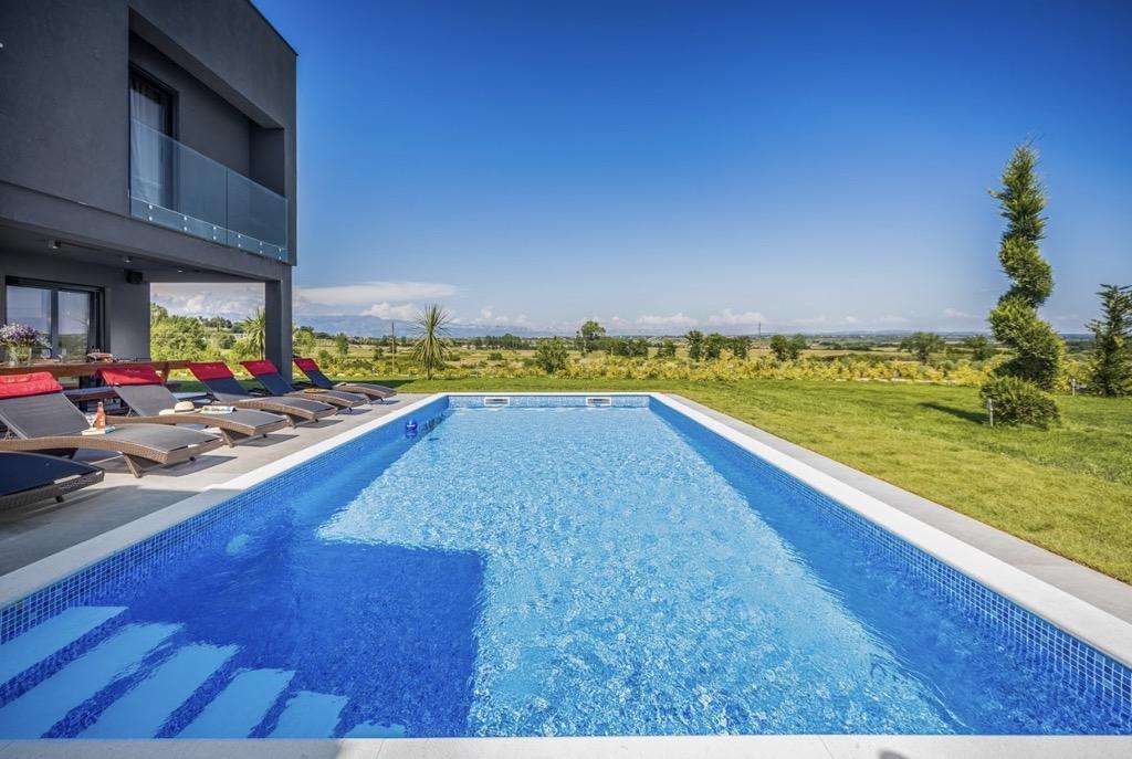 New house in Zadar, Croatia for sale, pool, parking