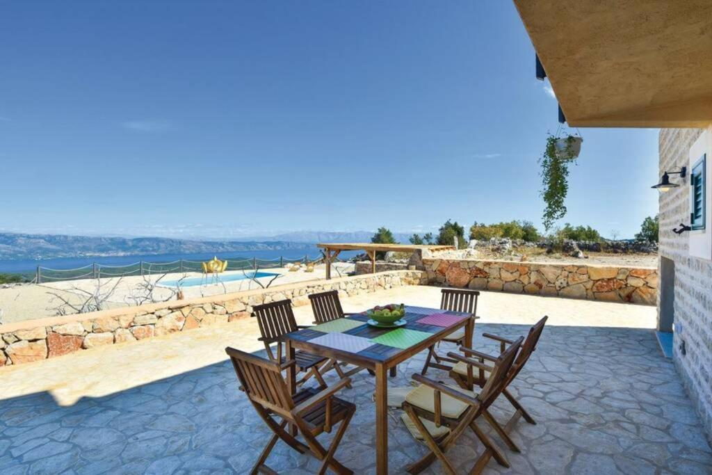 Stone house on Hvar island for sale, Croatia, sea view, pool, top of the island